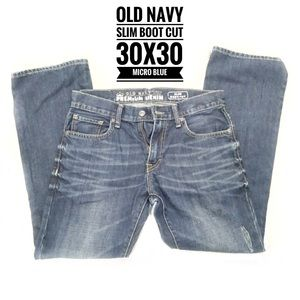 Old Navy Jeans - ❇️Old Navy Micro blue Slim Boot Cut